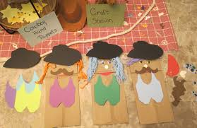 western cowboy party hand puppets craft kids crafts party vbs