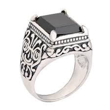 aliexpress buy mens rings black precious stones real vintage ethnic style totem men rings fashion antique silver