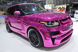 range rover pink interior range rover mystere by hamann in pink with mirror finish