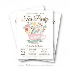 bridal tea party invitations birthday tea cup birthday invite 5x7 personalized digital tea