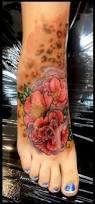 Leopard Print Flower Tattoos - modern art painting 15 dazzling cheetah print tattoos on foot