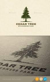 cedar tree wilderness park nature logo by subtropica graphicriver