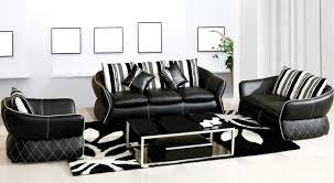 Stylish Sofa Sets For Living Room Stylish Black And White Leather Sofa For Living Room Amepac