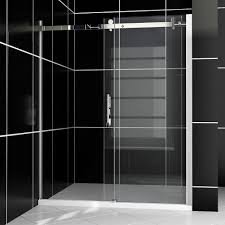 1500 Shower Door New Frameless Bypass Sliding Shower Door Clear Glass Chrome Finish