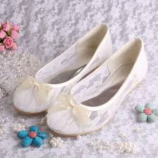 wedding shoes size 12 free drop shipping ivory lace ballet flats bridal wedding shoes