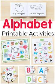 printable alphabet kindergarten printable alphabet activities mega bundle