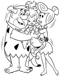 flintstones coloring pages free flintstones cartoon coloring