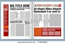 newspaper design template red headline images stock vector