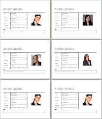 employee profile templates microsoft word u0026 excel templates