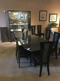 dark laquer dining room allegheny furniture consignment
