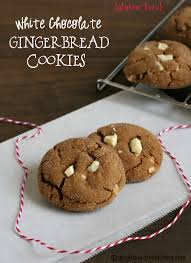 gluten free white chocolate gingerbread cookies