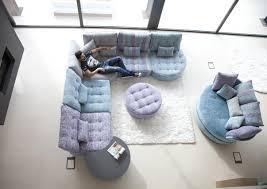 canapes modulables tissus acheter votre canapé modulable élégant ton pastel à motif chez
