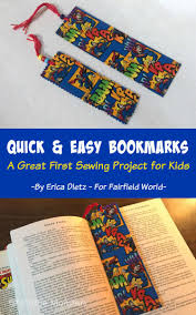 5 little monsters easy fabric bookmarks kids sewing project