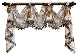 Lucia Valance Florence Victory Swag Traditional Valances By Rlf Home