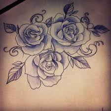 flowers on thigh sugar skull rose drawing google search dia de los muertos