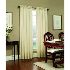 Blackout Curtains Lowes Shop Allen Roth Columbia 84 In Ivory Polyester Rod Pocket