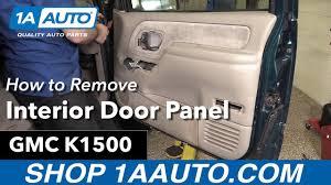 Gmc Interior Parts How To Remove Install Interior Door Panel 1996 Gmc Sierra K1500