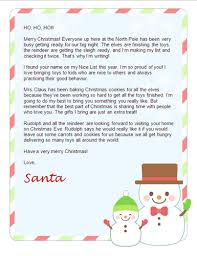 free christmas letter from santa free santa letters net free