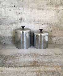 canister set of 2 stainless steel canisters pantry queen metal
