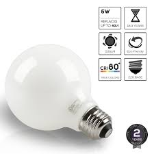 led dimmable g25 globe filament light bulb 5w 60w equivalent