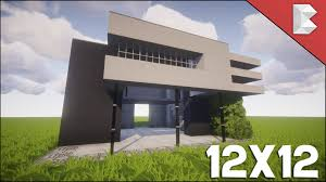 minecraft 12x12 modern house tutorial easy to follow