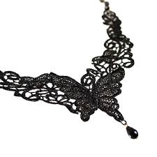black lace collar necklace images Wholesale fashion black lace butterfly choker necklace yiwuproducts jpg