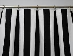 Black White Stripe Curtain Black White Modern Vertical Stripe Curtains Rod Pocket 84