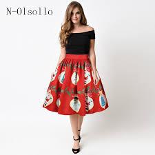 women s skirts hot sale 3d christmas light gift print skirts womens 2017 new