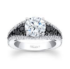 white and black diamond engagement rings barkev s black white diamond engagement ring 789