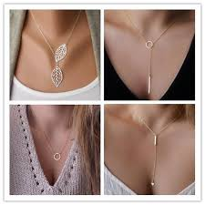 trendy necklace pendants images Wholesale women trendy necklaces fashion simple gold plated circle jpg