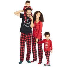 family pajamas newborn baby unisex buffalo check footed