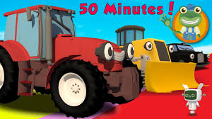 trevor the tractor and more trucks for toddlers gecko u0027s garage