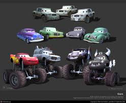cars characters disney pixar cars videogame character models take five a day