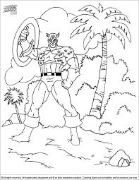 captain america coloring sheet ca tropical island coloring