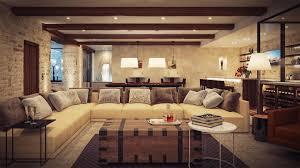 rustic living room design ideas black white leather lounge