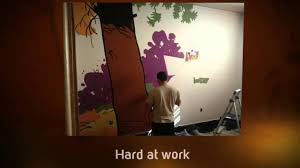 a work of love dad paints calvin hobbes mural youtube a work of love dad paints calvin hobbes mural