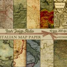 Map Wrapping Paper Map Digital Paper Italian Map Digital Paper Sicilian Map