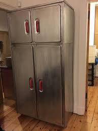 retro steel kitchen cabinets vintage stripped aluminium metal kitchen cabinet wardrobe retro