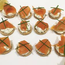 bases for canapes high protein smoked salmon cheese canapés food