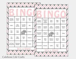 baby shower bingo 60 elephant baby shower bingo cards 60 prefilled bingo