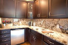 Creative Kitchen Backsplash Creative Kitchen Granite Countertops Ideas Image Of Glass Tile