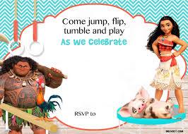 free printable halloween birthday invitations free moana birthday invitation template drevio invitations design