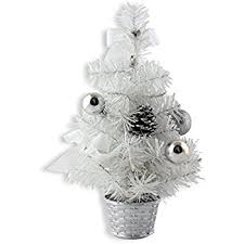 Mini Decorated Christmas Trees Amazon Com 2 U0027 Snow White Artificial Christmas Tree Decoration