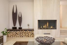 Contemporary Gas Fireplaces by Nice Contemporary Gas Fireplace Designs 10 Wood Paneled Column