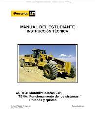 manual motoniveladora 24h caterpillar sistemas motor tren potencia