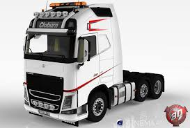 all volvo truck models 3d volvo fh16 2013 cloburn edition cgtrader