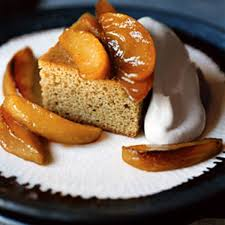 brown sugar spice cake with cream and caramelized apples recipe