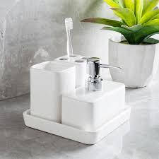 harman elements bath accessories white set of 4 kitchen