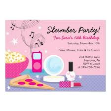 sleepover party invitations templates free birthday pinterest