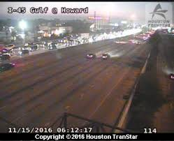 Houston Transtar Map 8 Vehicle Accident Blocks I 45 Gulf Freeway Near 610 South